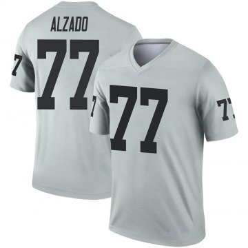 Youth Lyle Alzado Las Vegas Raiders Legend Inverted Silver Jersey